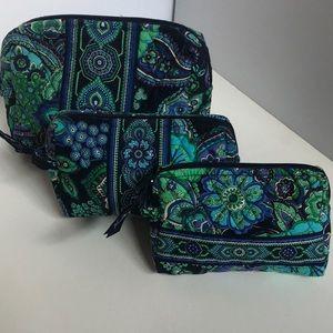 Set of 3 Vera Bradley Cosmetic bags